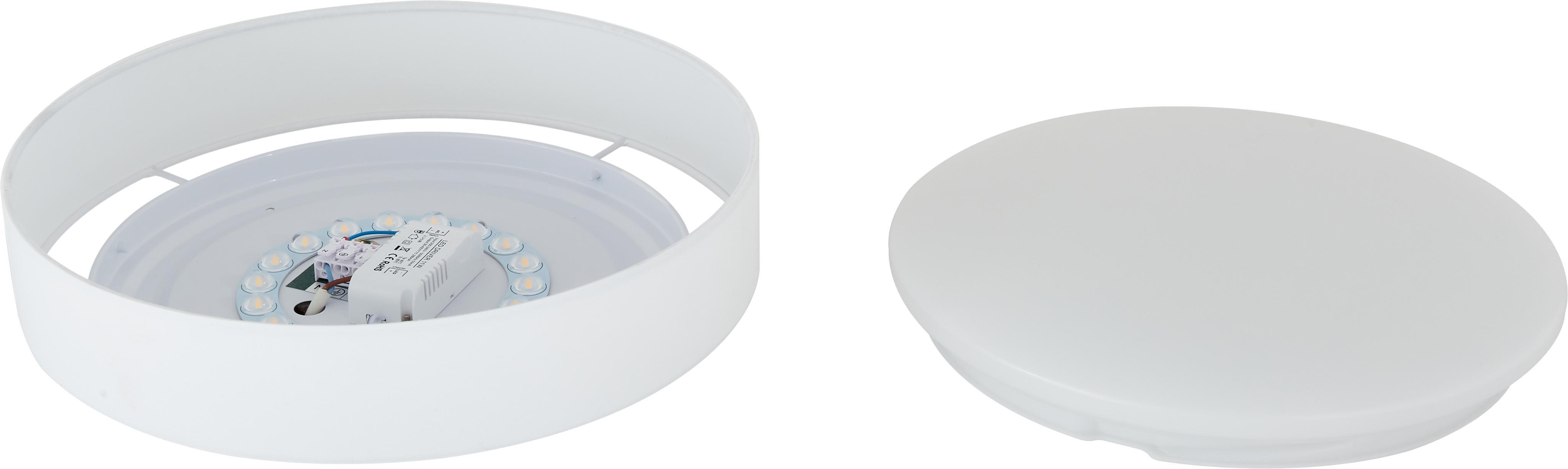 LED-Deckenleuchte Helen, Rahmen: Metall, Diffusorscheibe: Kunststoff, Weiß, ∅ 35 x H 7 cm