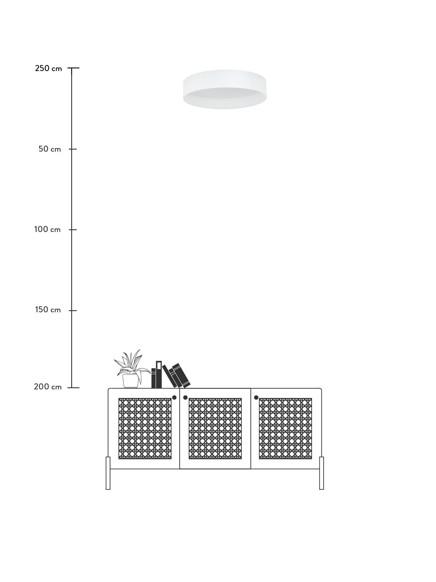 LED-Deckenleuchte Helen, Rahmen: Metall, Diffusorscheibe: Kunststoff, Weiß, ∅ 52 x H 11 cm