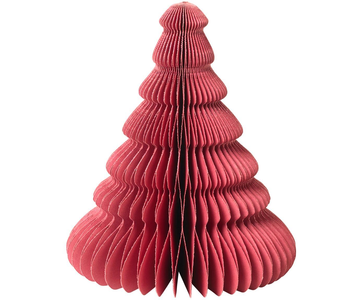 Dekoracja Paper Pine, Papier, Czerwony, Ø 13 x W 15 cm