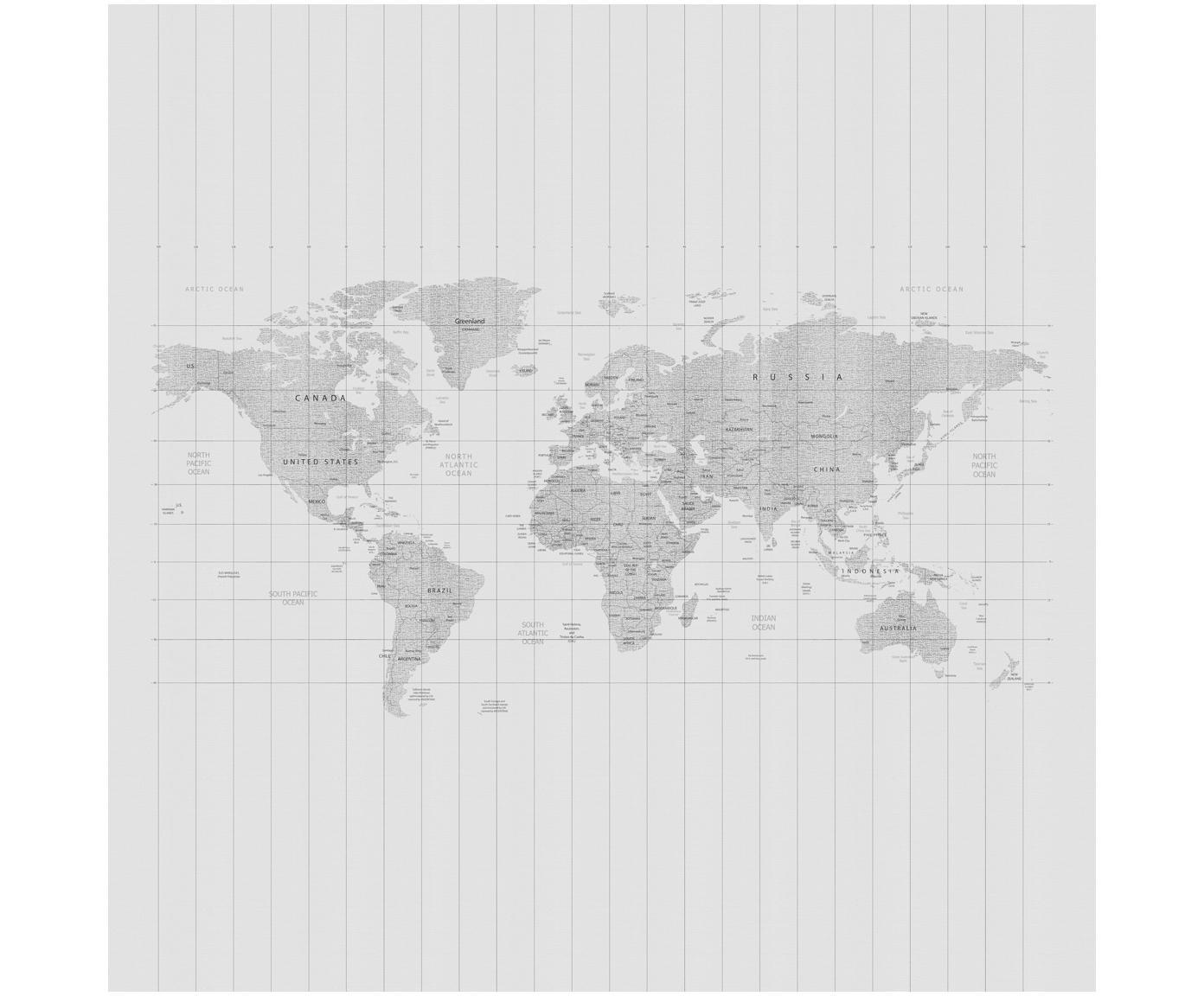 Adesivo murale Worldmap, Vello, Grigio, L 300 x A 300 cm