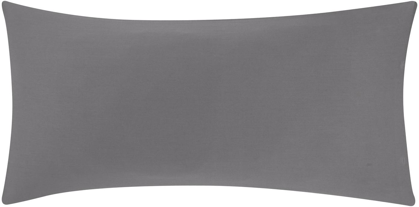 Baumwollsatin-Kissenbezüge Comfort in Dunkelgrau, 2 Stück, Webart: Satin Fadendichte 250 TC,, Dunkelgrau, 40 x 80 cm