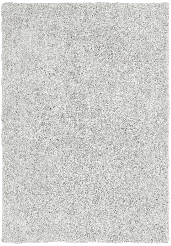 Tappeto peloso morbido grigio chiaro Leighton, Retro: 70% poliestere, 30% coton, Grigio chiaro, Larg. 120 x Lung. 180 cm (taglia S)