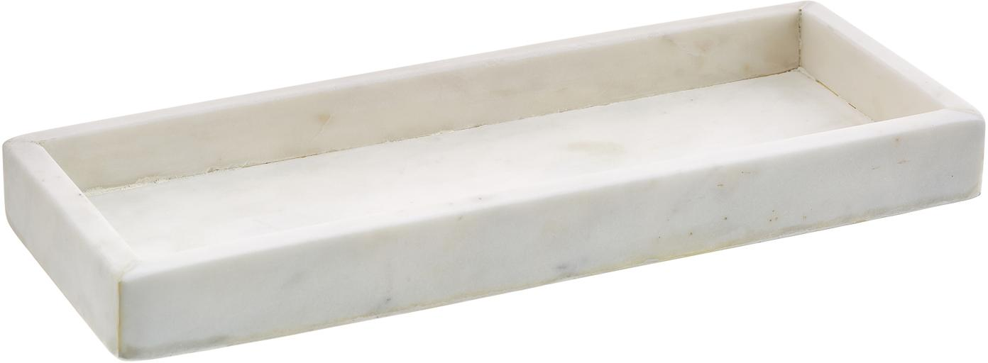 Marmor-Tablett Yala, Marmor, Weiß, 30 x 2 cm
