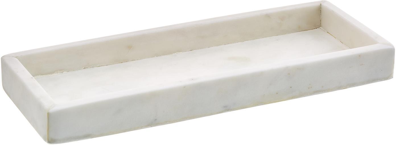 Marmor-Tablett Yala, Marmor, Weiss, 30 x 2 cm