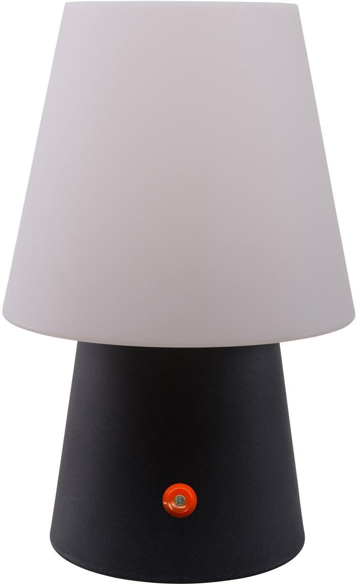 Mobile LED Aussentischleuchte No. 1 , Kunststoff (Polyethylen), Weiss, Anthrazit, Ø 18 x H 29 cm