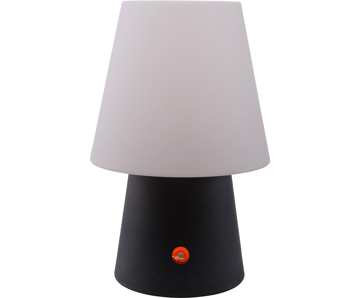 Mobiele outdoor LED tafellamp No. 1 , Kunststof, Wit, antraciet, Ø 18 x H 29 cm
