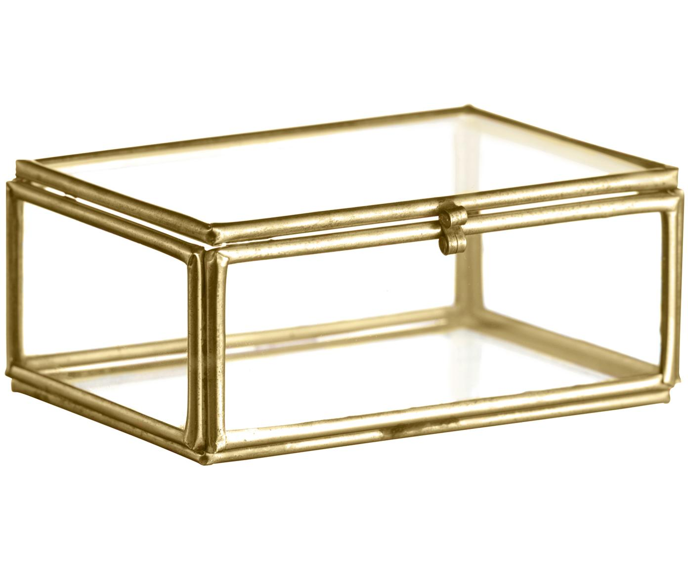 Aufbewahrungsbox Ivey, Rahmen: Metall, beschichtet, Messingfarben, 9 x 4 cm