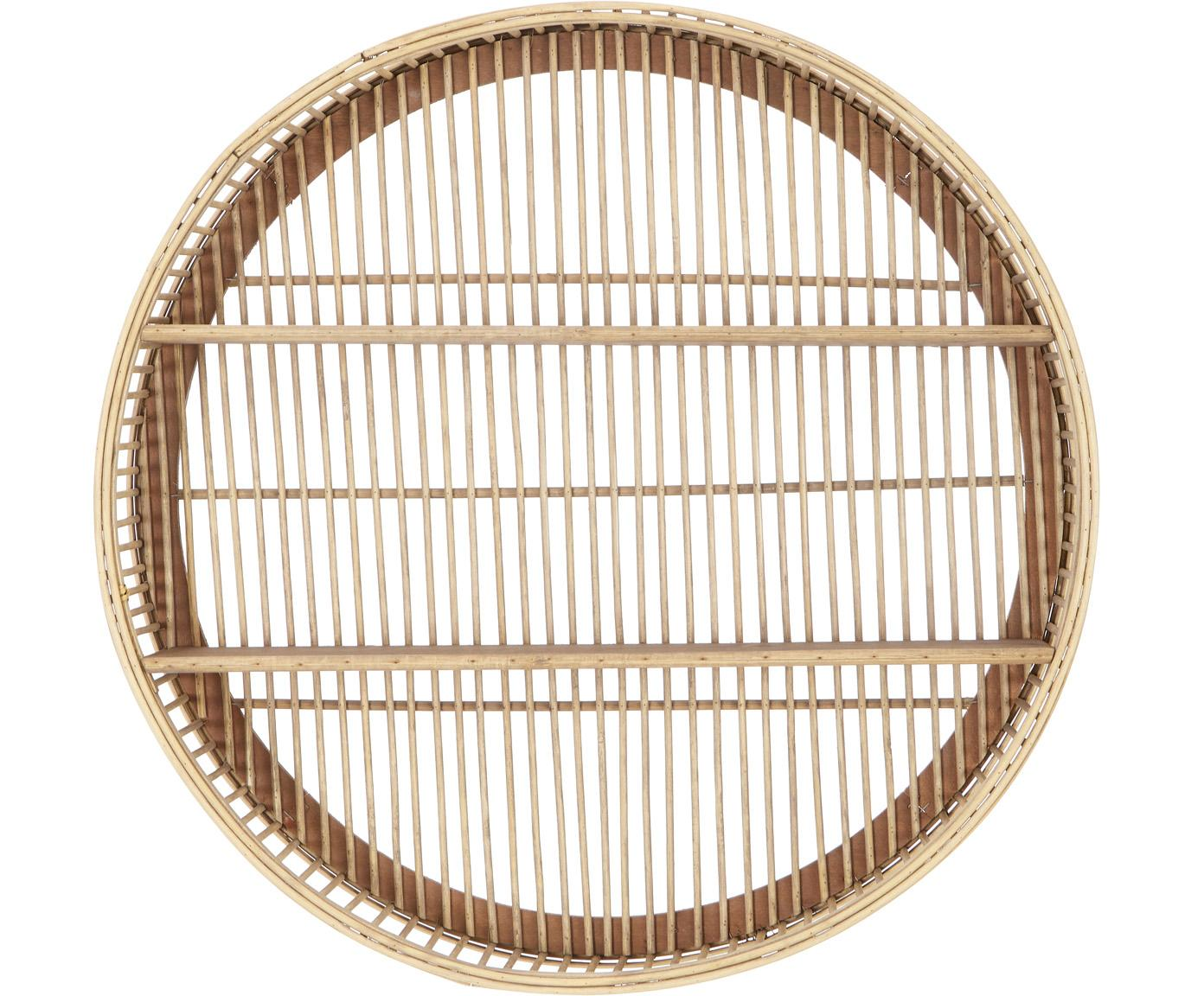 Okrągła półka ścienna z drewna bambusowego Bentra, Ciemny beżowy, Ø 60 x W 20 cm