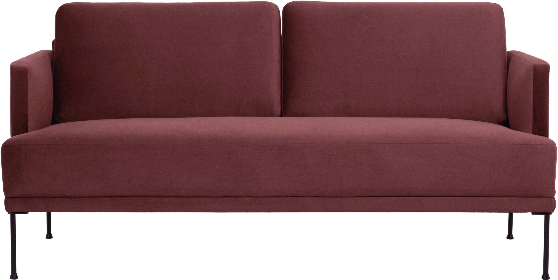 Samt-Sofa Fluente (2-Sitzer), Bezug: Samt (Hochwertiger Polyes, Gestell: Massives Kiefernholz, Samt Rostrot, B 166 x T 85 cm