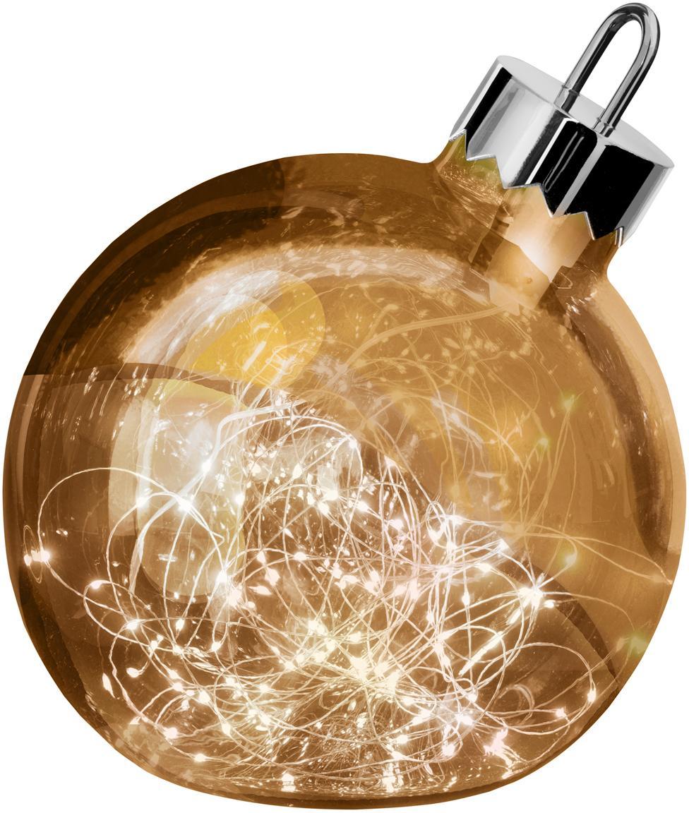LED Leuchtobjekt Aggia, Messingfarben, Ø 25 x H 27 cm