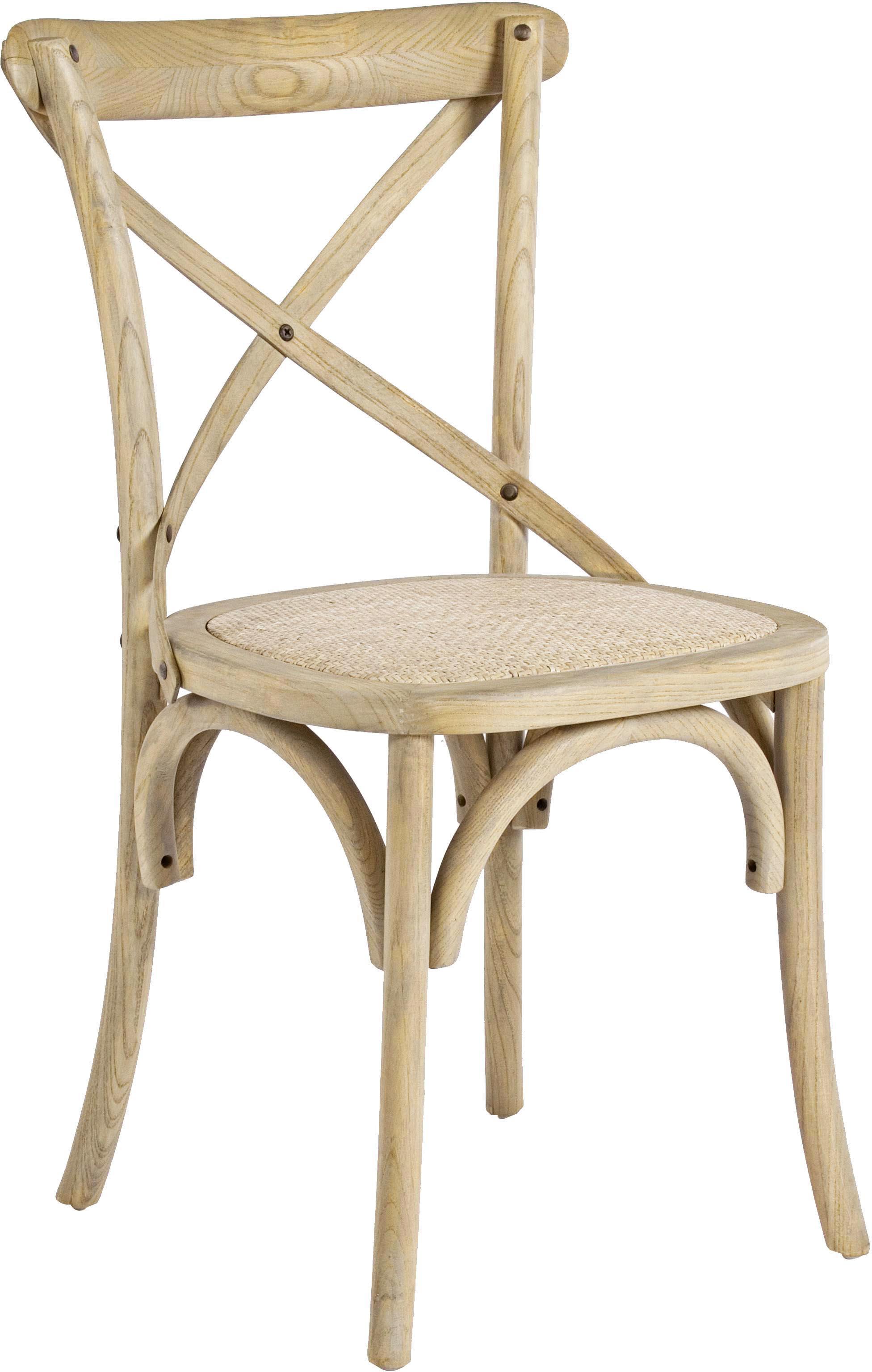 Silla Cross, Asiento: ratán, Estructura: madera de olmo, lacado tr, Ratán, madera de olmo, An 42 x F 46 cm