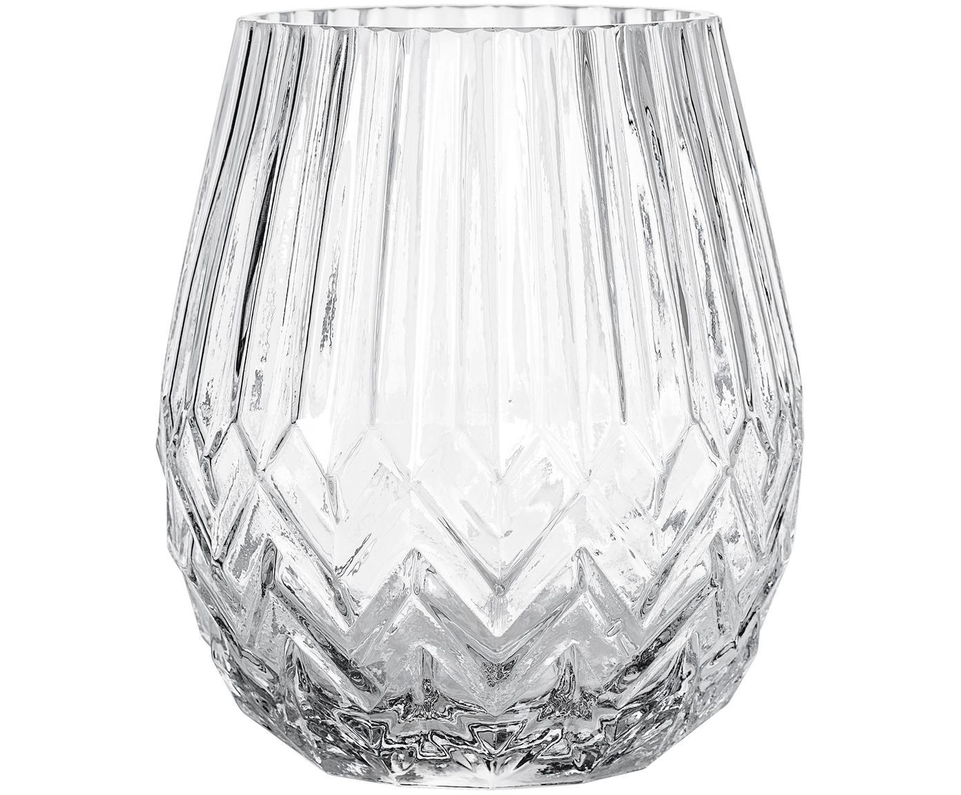 Jarrón de vidrio Luna, Vidrio, Transparente, Ø 14 x Al 17 cm