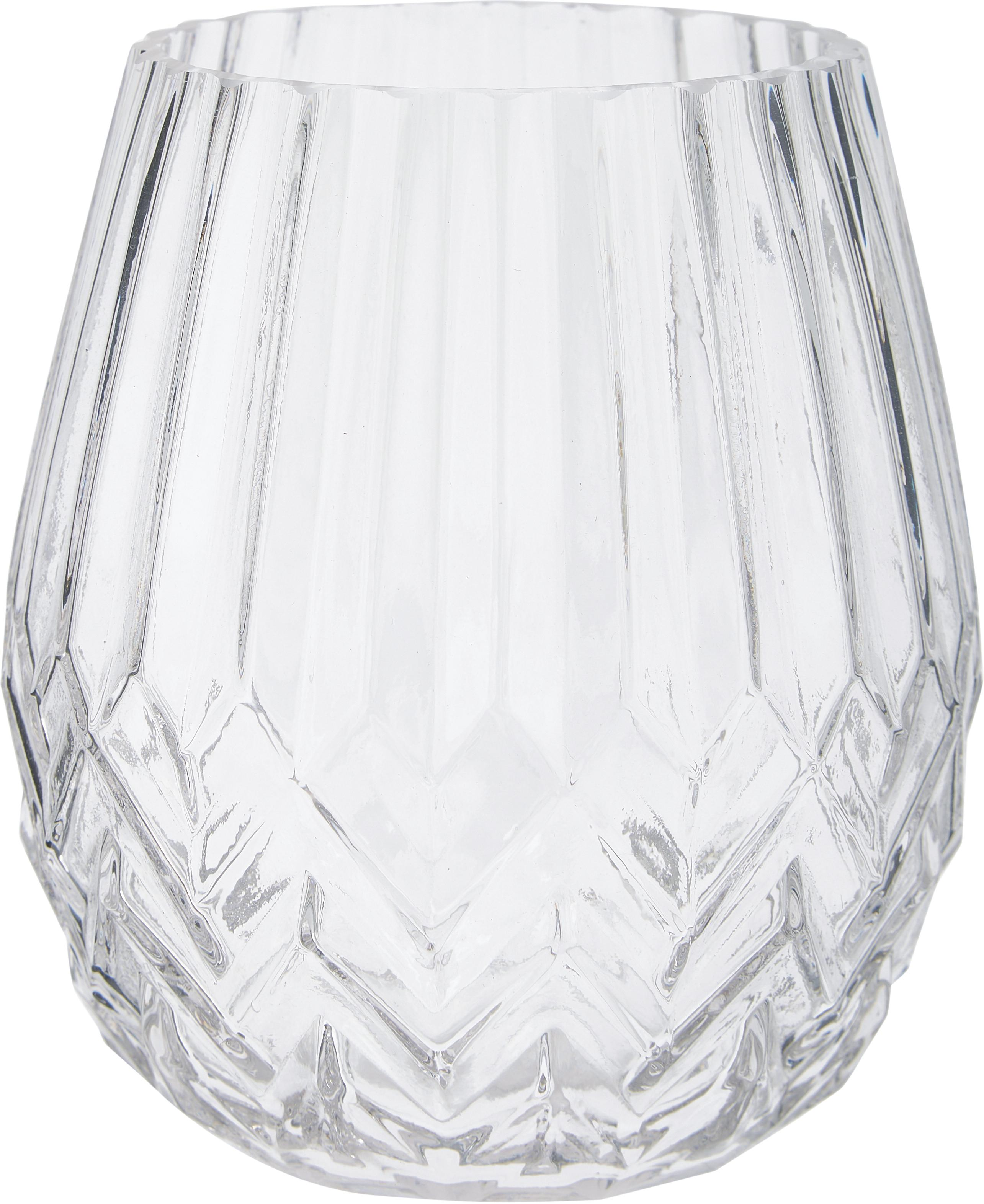 Vaas Luna, Glas, Transparant, Ø 14 x H 17 cm