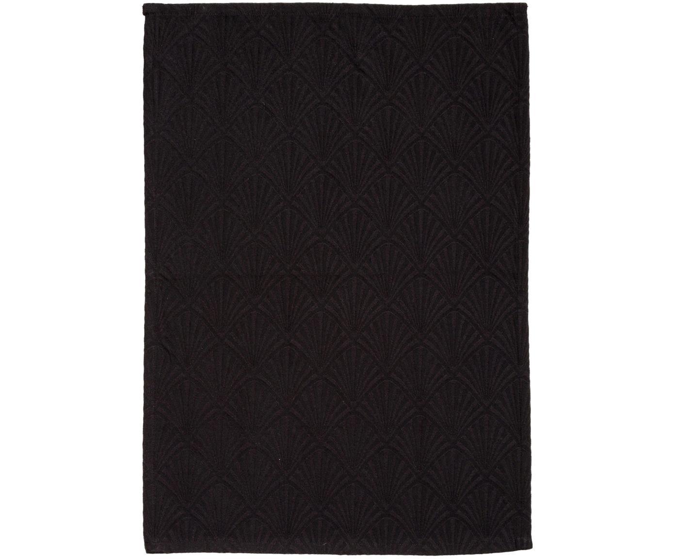 Ręcznik kuchenny Celine, Czarny, S 50 x D 70 cm