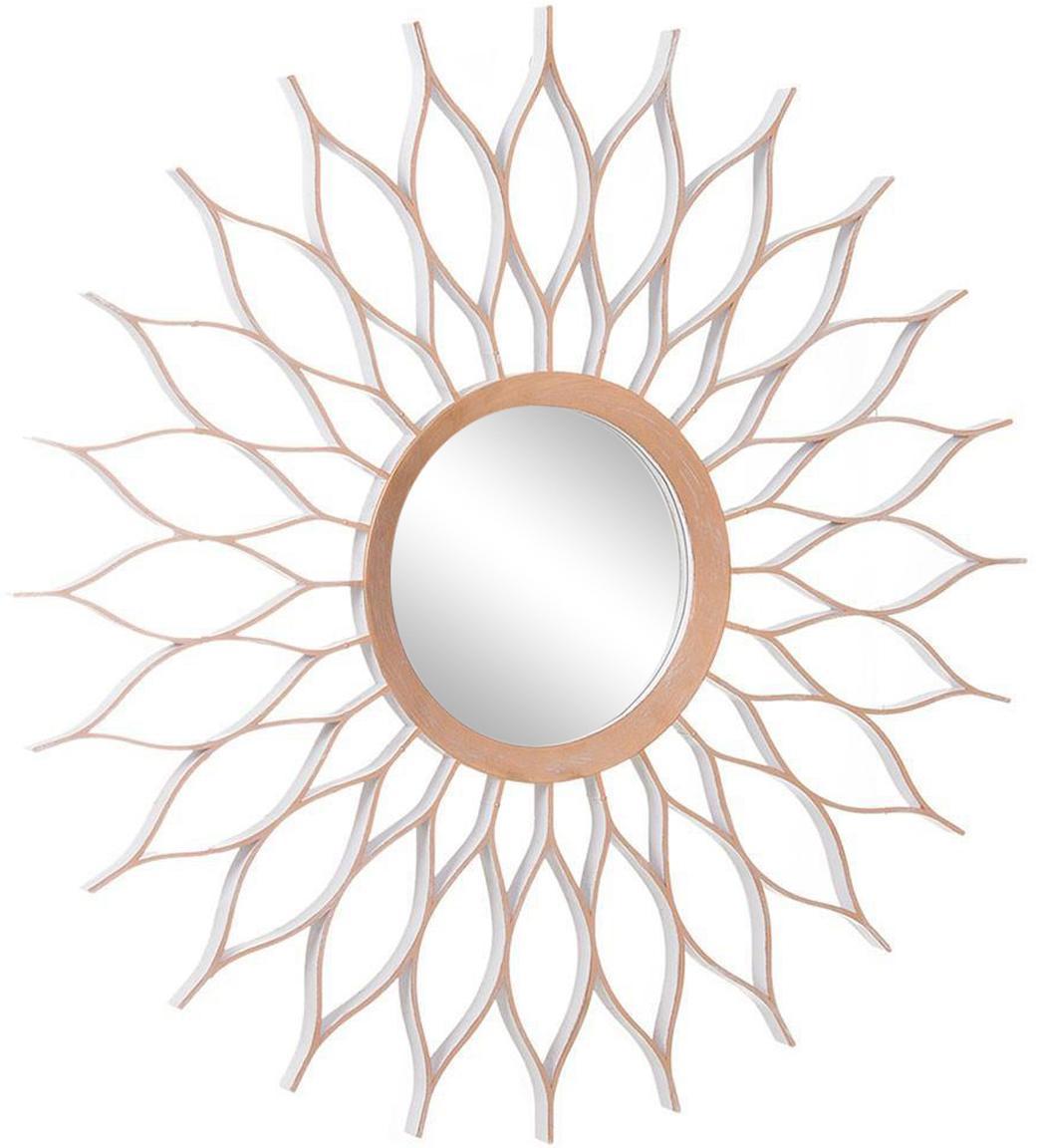 Espejo de pared Kubas World, Plástico, espejo de cristal, Bronce, Ø 52 cm