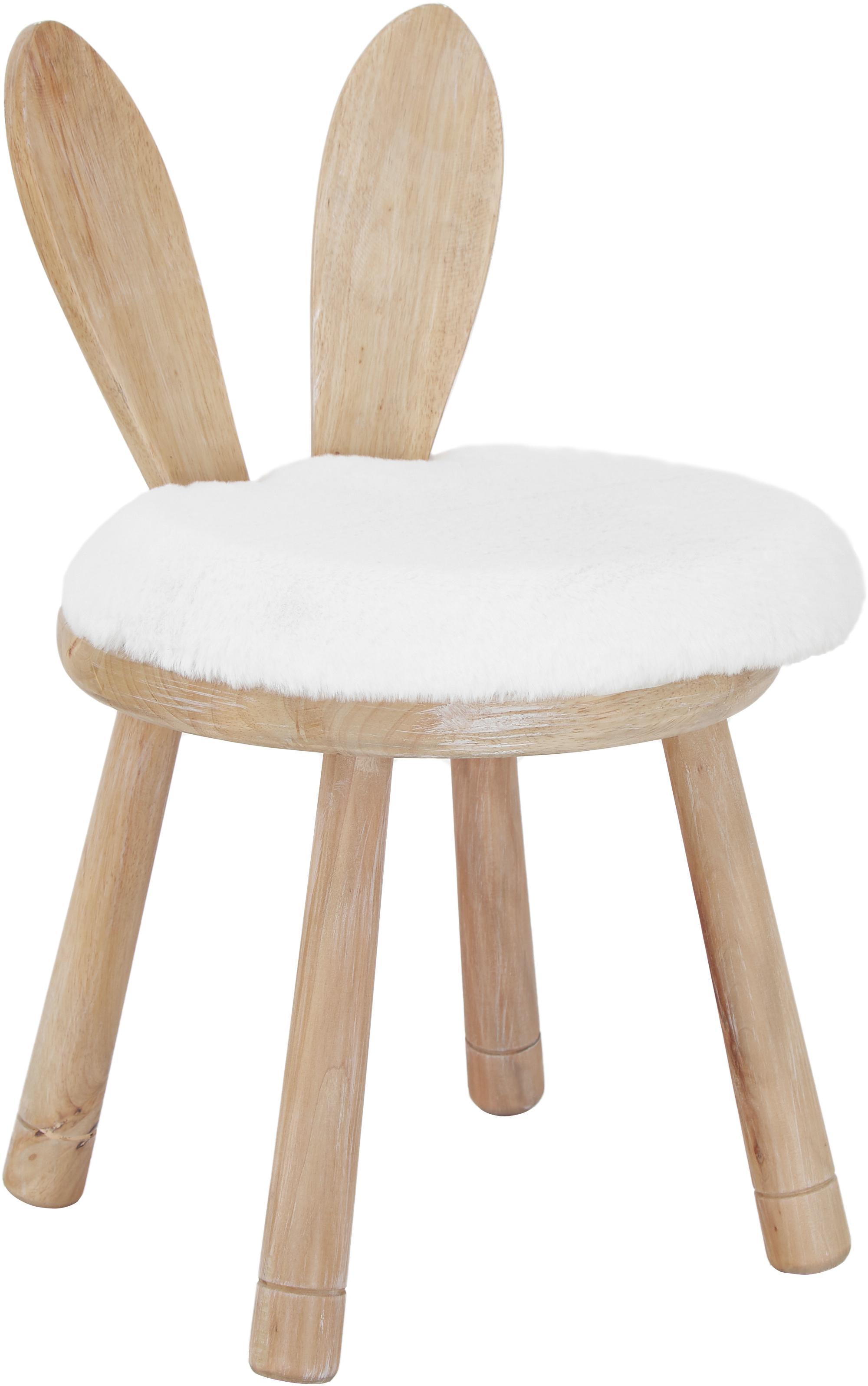 Sedia per bambini coniglietto Bunny, Caucciù, crema, Larg. 34 x Alt. 55 cm