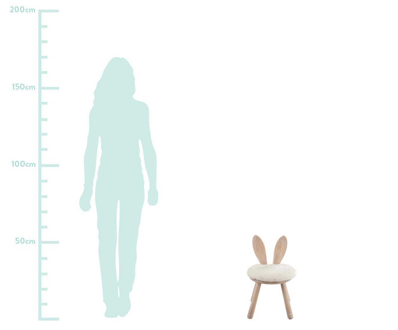 Kinderstuhl Bunny, Sitzkissen: Baumwolle, Gummiholz, Creme, 34 x 55 cm
