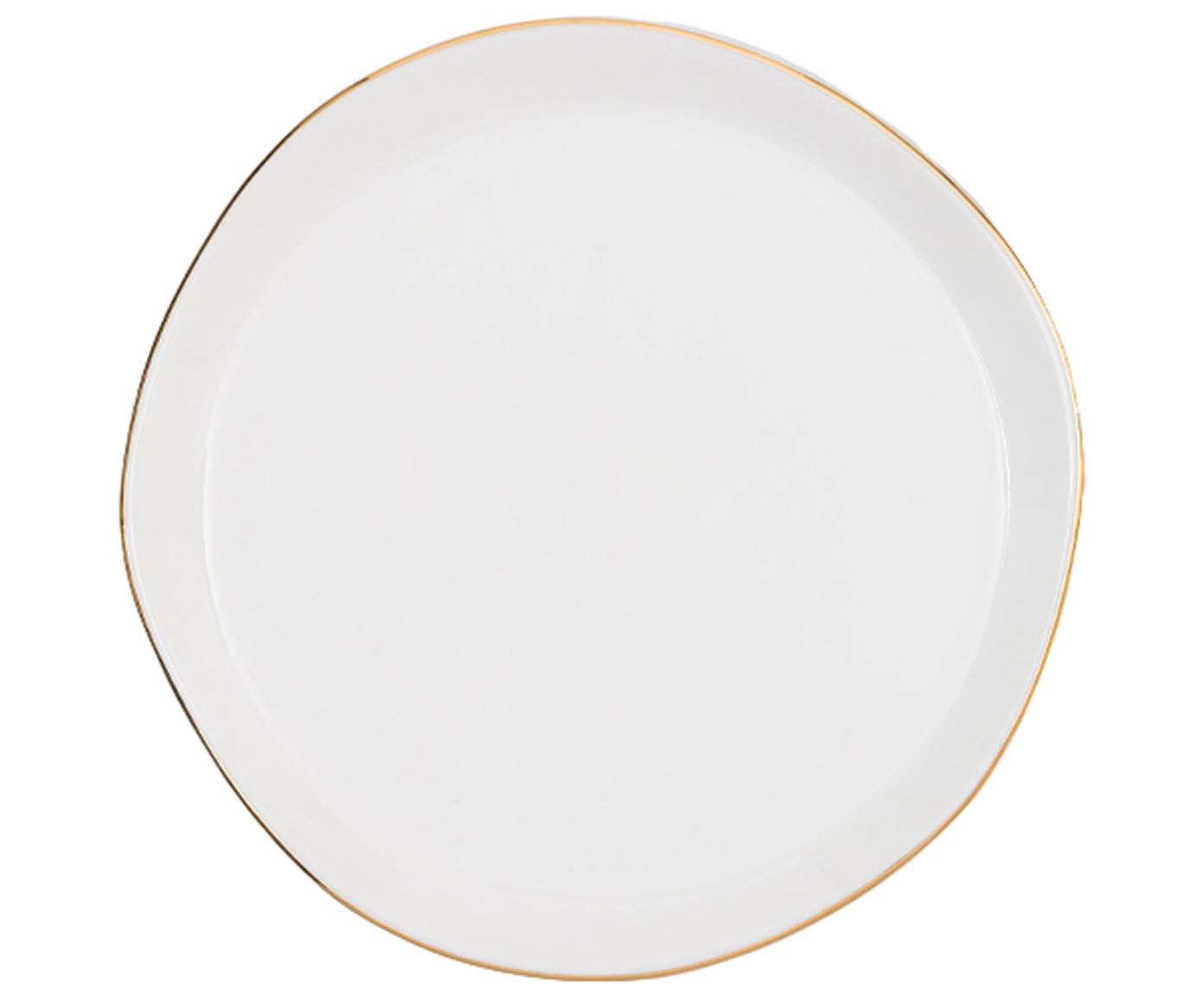 Plato postre Good Morning, Porcelana, Blanco, dorado, Ø 17 cm