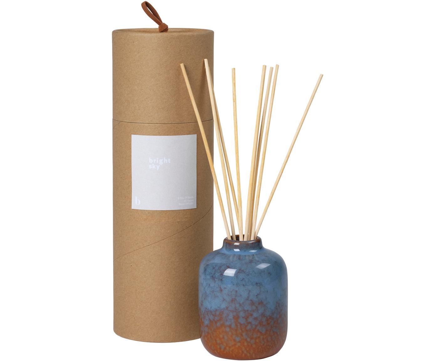 Diffuser Bright Sky, Behälter: Keramik, Braun, Blau, Ø 7 x H 9 cm