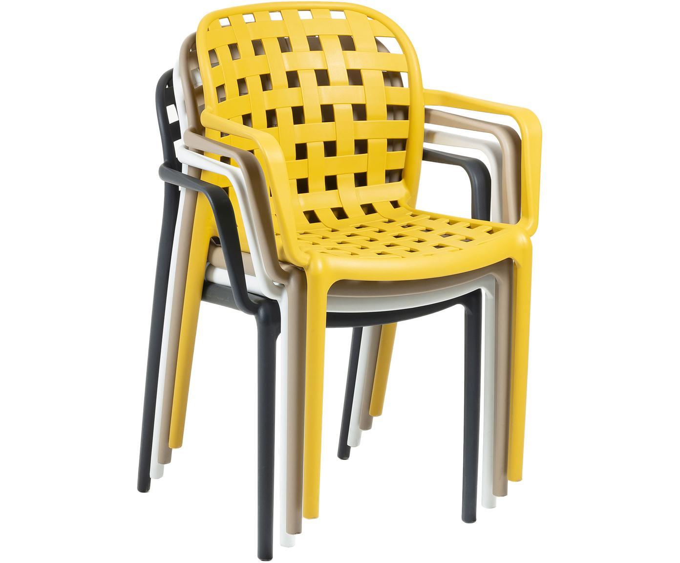 Krzesło ogrodowe składane z tworzywa sztucznego Isa, 2 szt., Tworzywo sztuczne, Ciemny szary, S 58 x G 58 cm