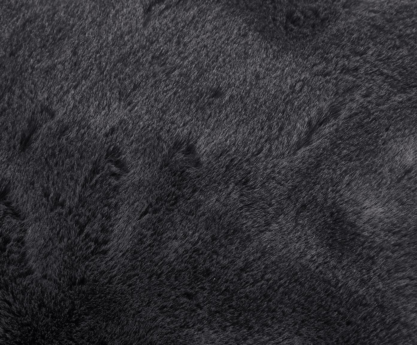 Federa in ecopelliccia Maette, Retro: 100% poliestere, Grigio scuro, Larg. 45 x Lung. 45 cm
