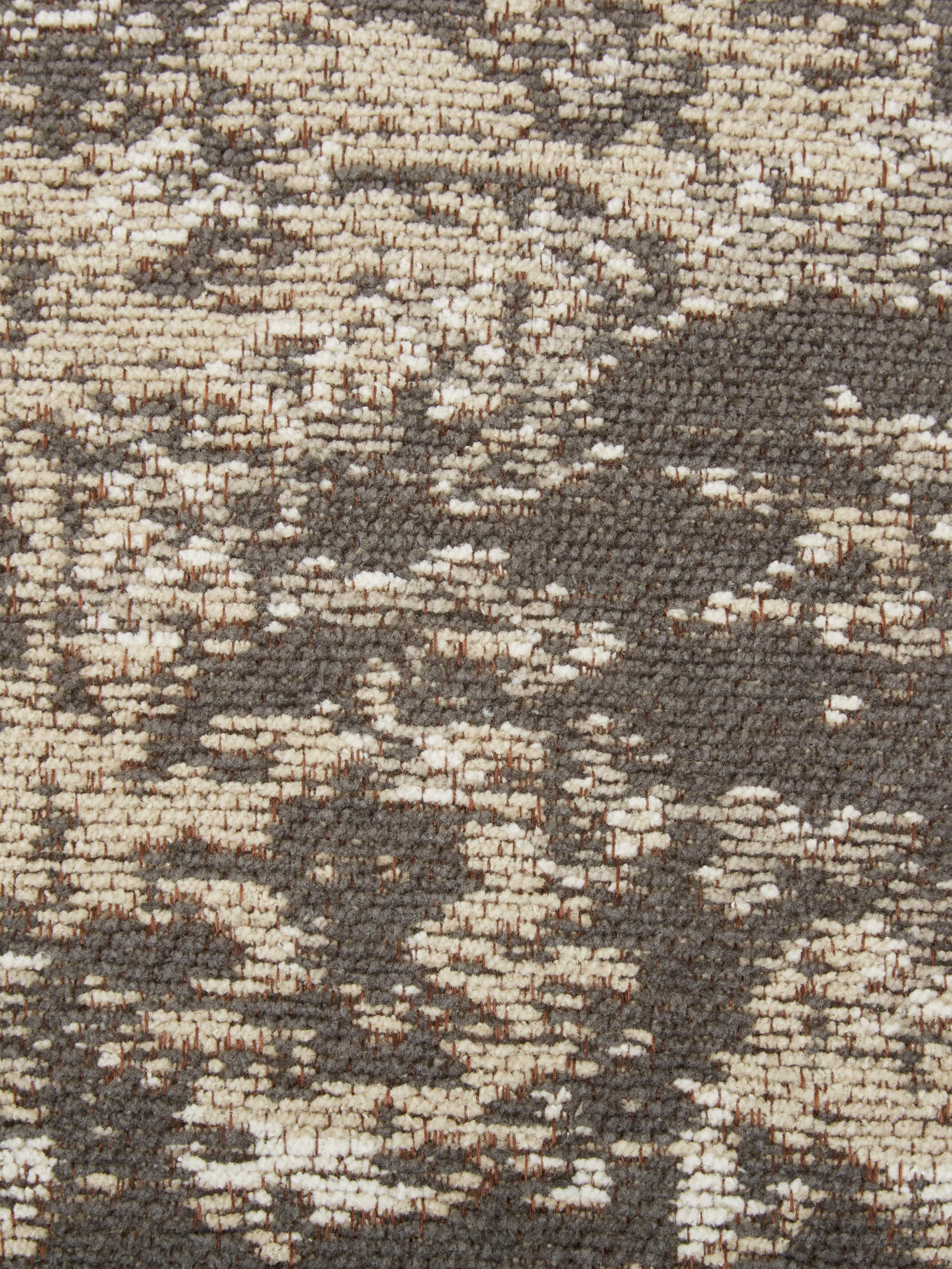 Vintage-Bodenkissen Rebel, Bezug: 95% Baumwolle, 5% Polyest, Dunkelgrau, Creme, 70 x 20 cm