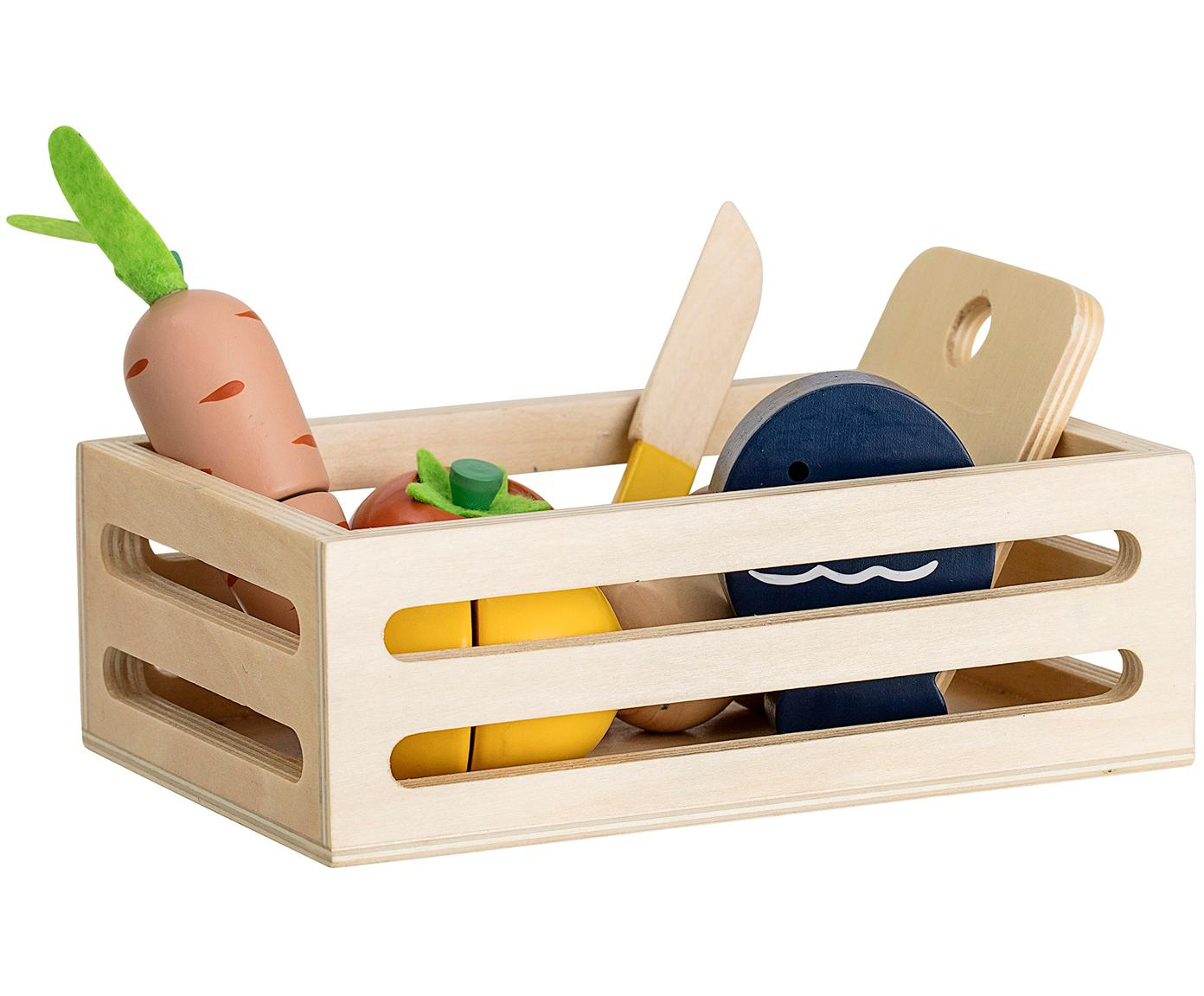 Set de juguetes Foodbox, 8pzas., Madera contrachapada, tablero de fibras de densidad media (MDF), Multicolor, An 18 x Al 6 cm