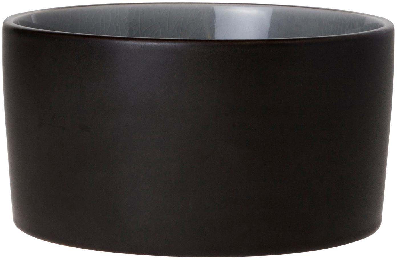 Ciotole Lagune, 2 pz., Ceramica, Marrone grigiastro, grigio chiaro, Ø 12 x A 6 cm