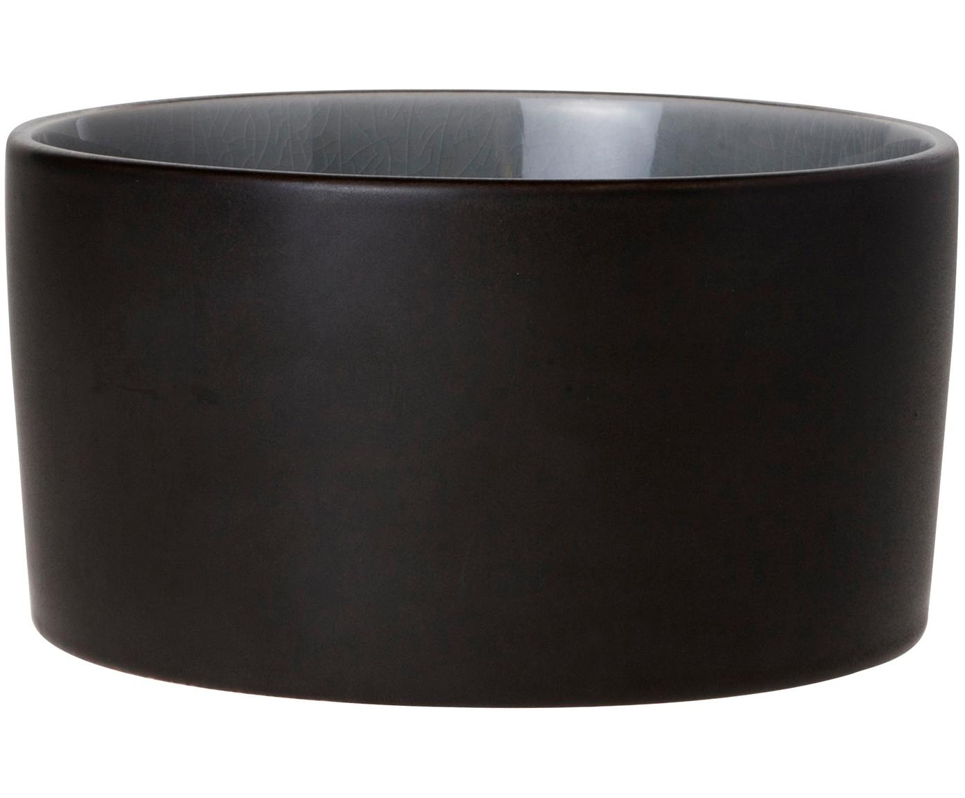 Schälchen Lagune Black, 2 Stück, Keramik, Graubraun, Hellgrau, Ø 12 x H 6 cm