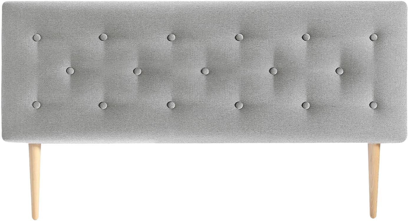 Cabecero Open, Estructura: contrachapado rígido, Gris, An 140 x Al 60 cm