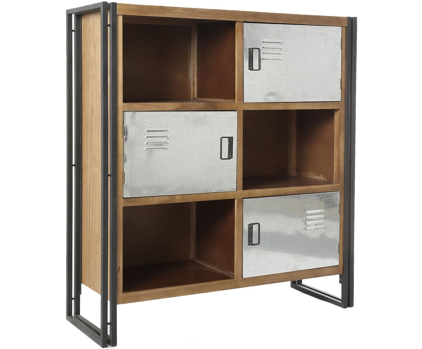 Armario Ines, Cuerpo: madera de pino, tablero d, Patas: metal, Multicolor, An 116 x Al 125 cm