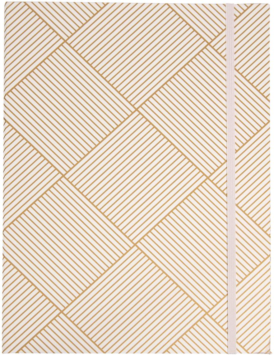 Sammelmappen Paulina, 2Stück, Goldfarben, Weiss, 23 x 32 cm