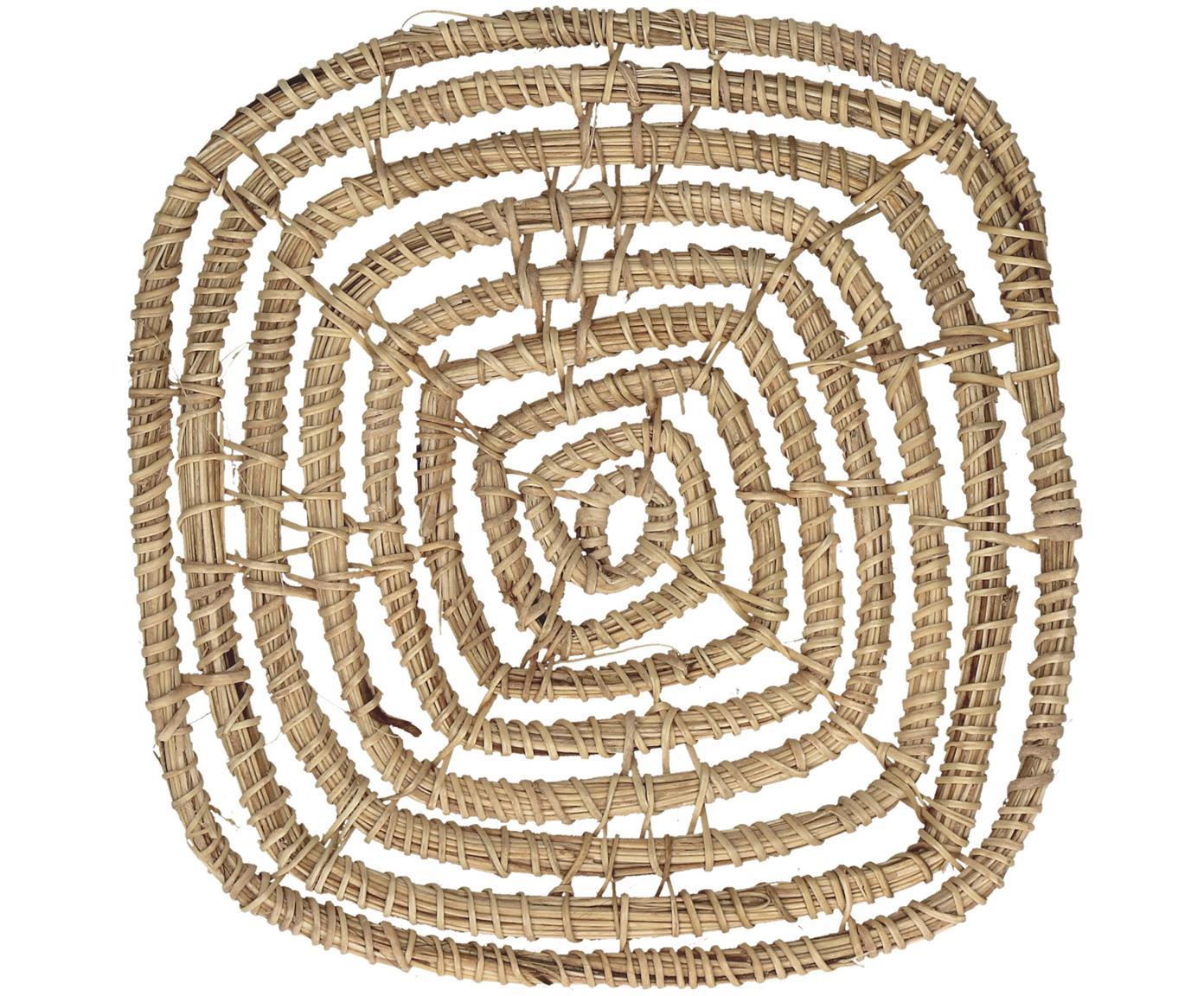 Podstawka Spirou, 4 szt., Rattan, Brązowy, S 12 x W 1 cm