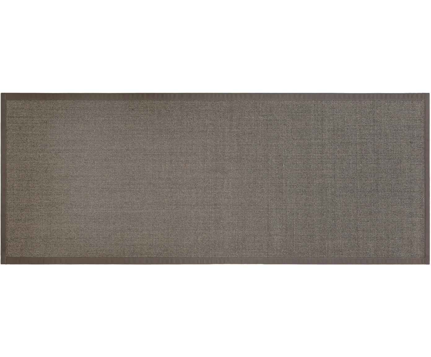 Alfombra Leonie, Fibra de sisal, Gris topo oscuro, An 80 x L 200 cm