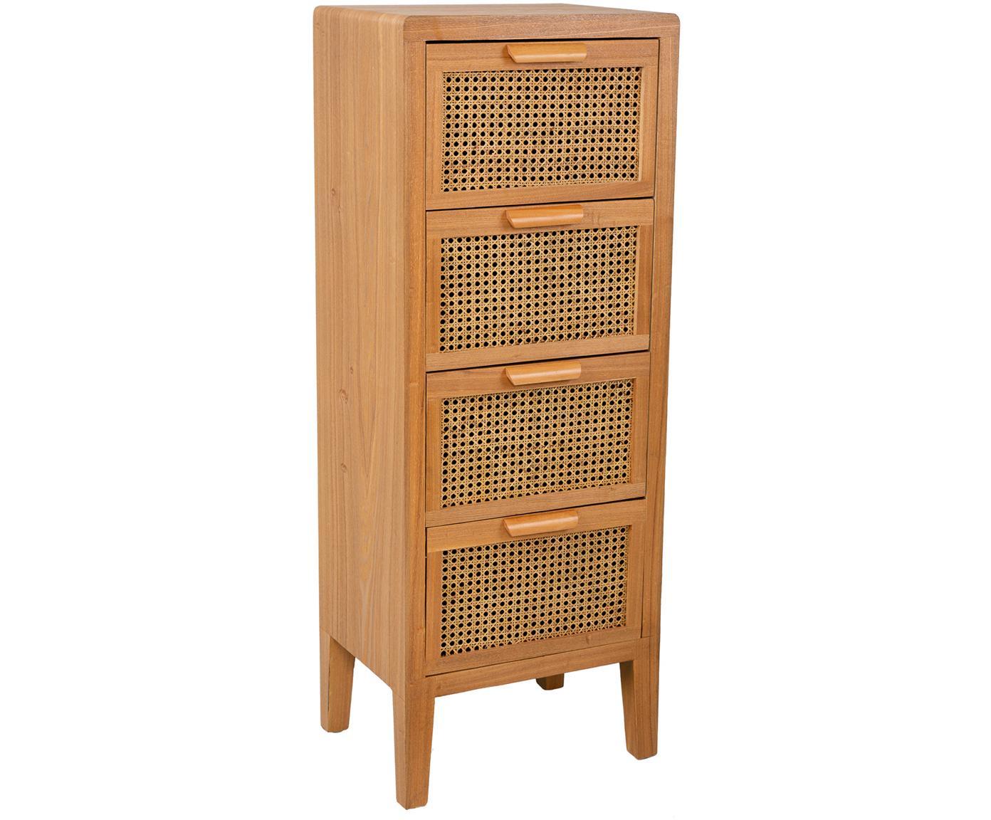 Chiffonier Nina, Estructura: madera de abeto, madera c, Tonos marrones, An 47 x Al 71 cm