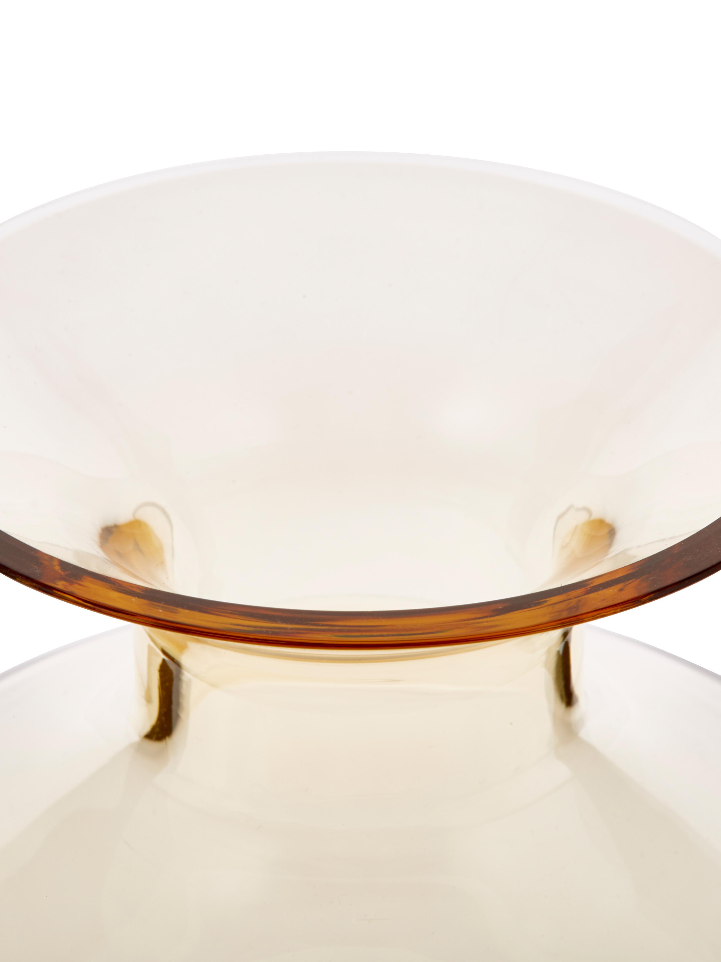 Carafe couleur ambre/transparent faite main Colored, Ambré, transparent