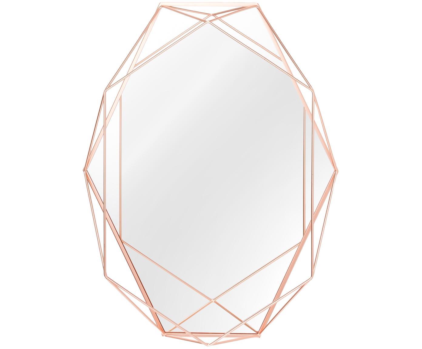 Espejo de pared Prisma, Espejo: cristal, Cobre, An 43 x Al 57 cm