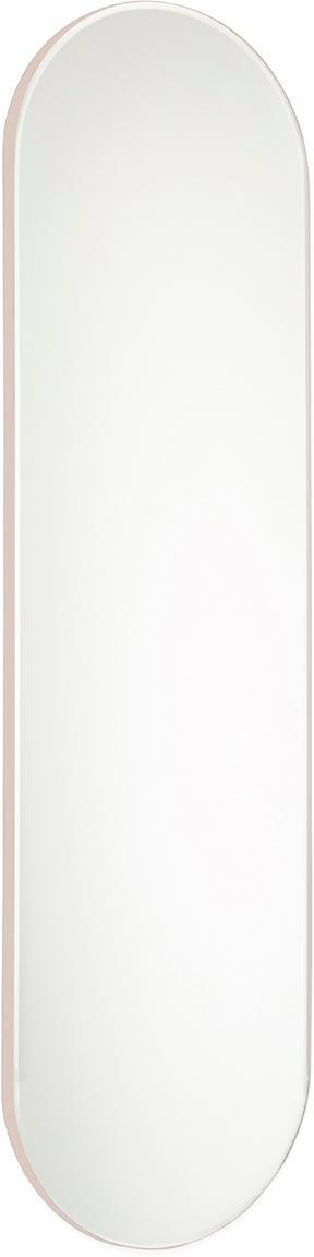 Specchio da parete ovale Renga, Cornice: pannello di fibra a media, Superficie dello specchio: lastra di vetro, Rosa, Larg. 20 x Alt. 70 cm