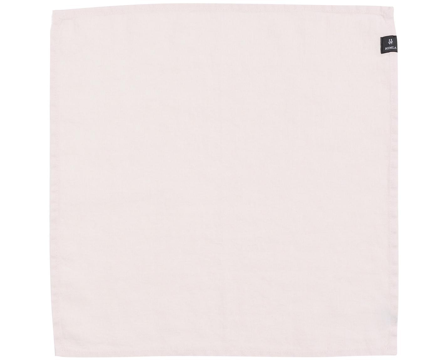 Tovagliolo in lino Sunshine 4 pz, Lino, Rosa, P 45 x L 45 cm