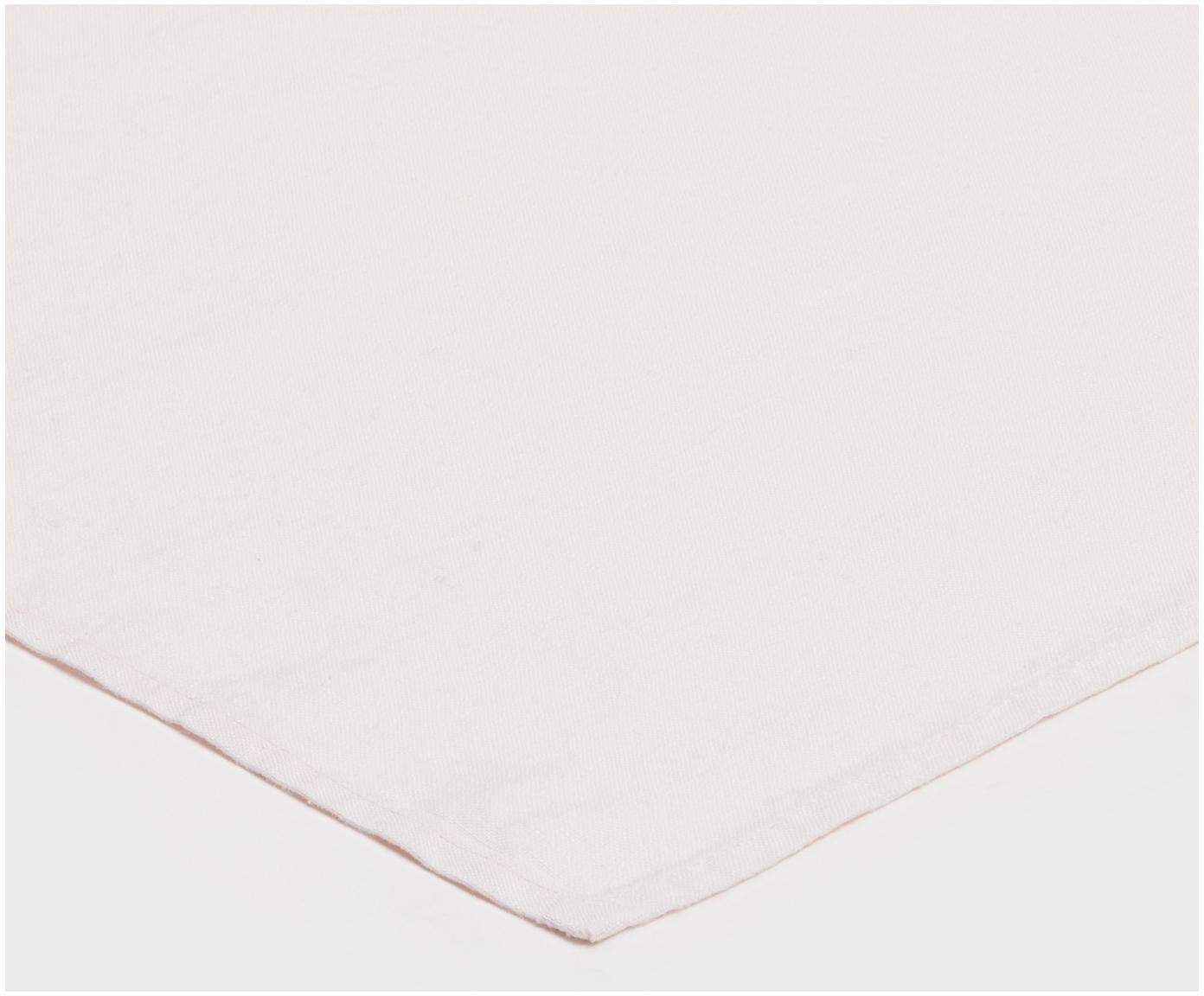 Serwetka z lnu Sunshine, 4 szt., Len, Różowy, S 45 x D 45 cm
