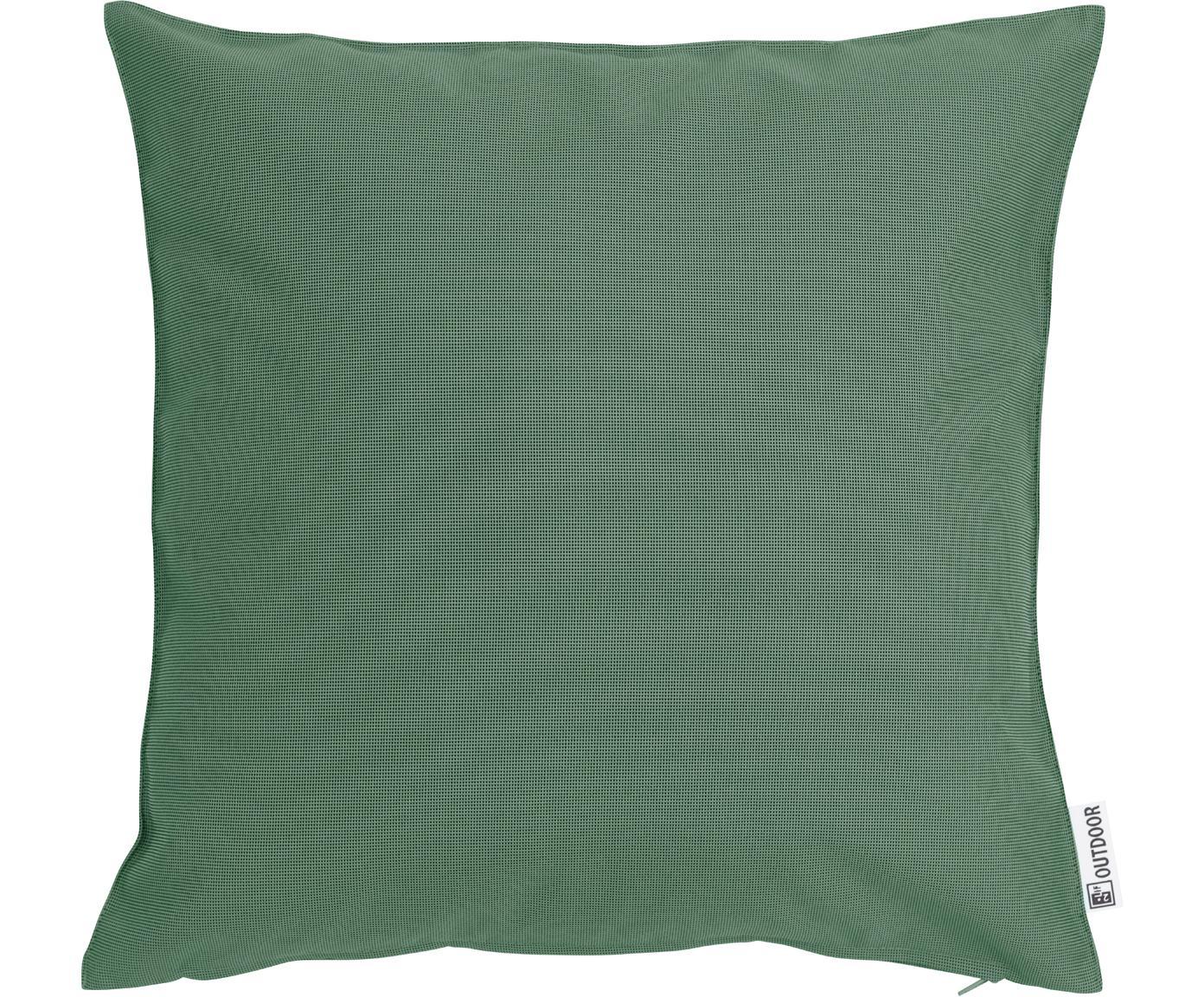 Zewnętrzna poduszka z wypełnieniem St. Maxime, Poliester, Ciemny zielony, czarny, S 47 x D 47 cm