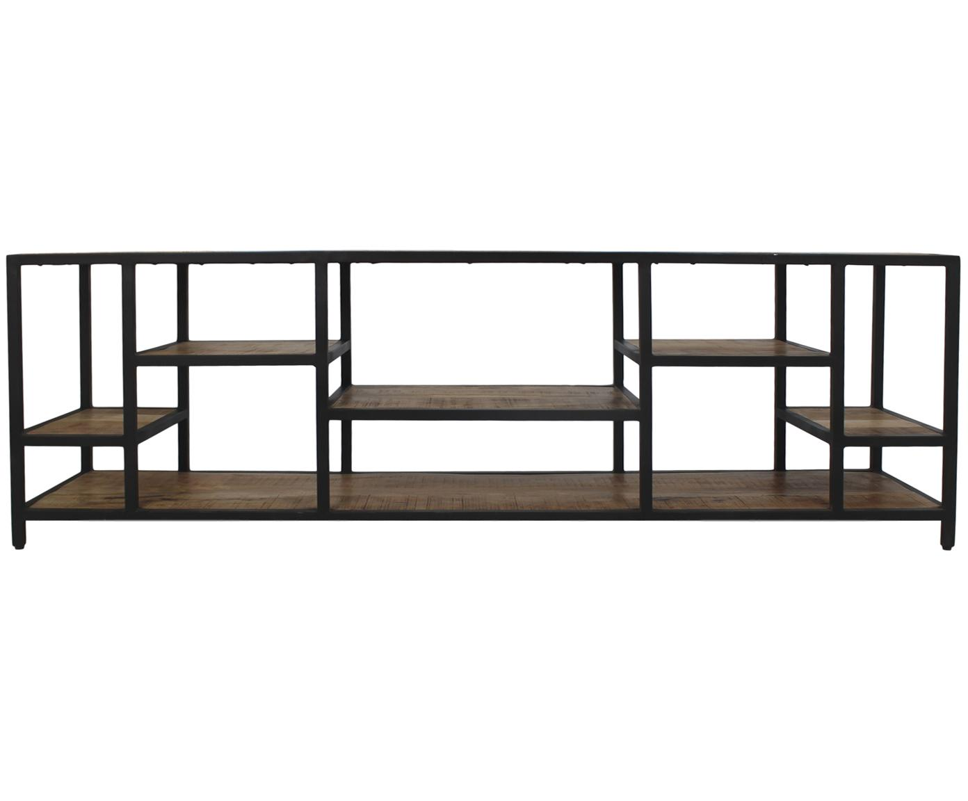 Metall TV-Lowboard Levels, Mangoholz, Metall, Braun, Schwarz, 170 x 55 cm
