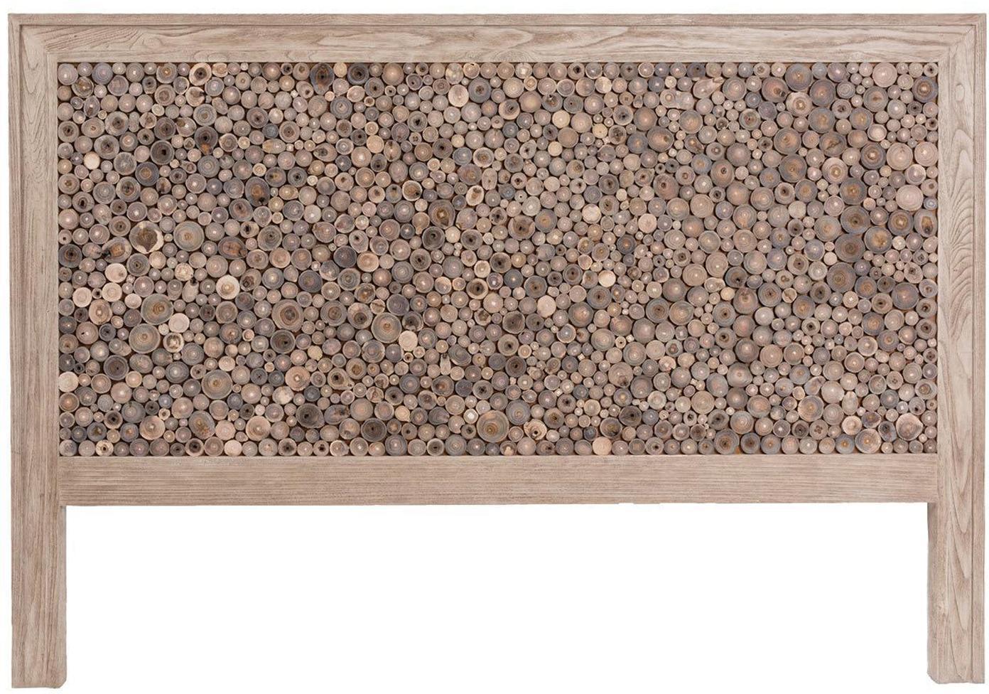 Cabecero Trunks, Madera maciza de roble, Beige, marrón, An 160 x Al 130 cm