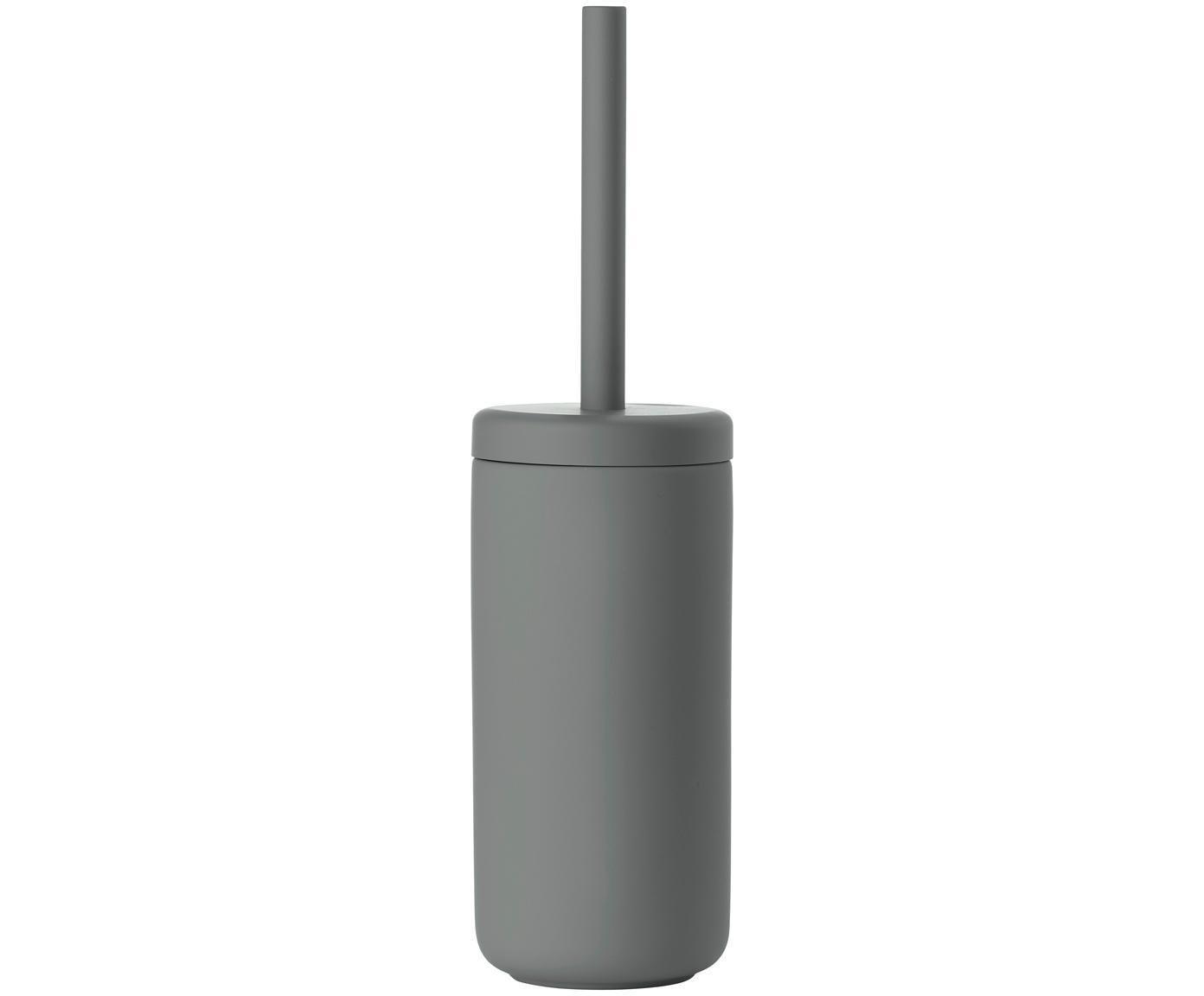 Szczotka toaletowa Omega, Szary, matowy, Ø 10 x W 39 cm