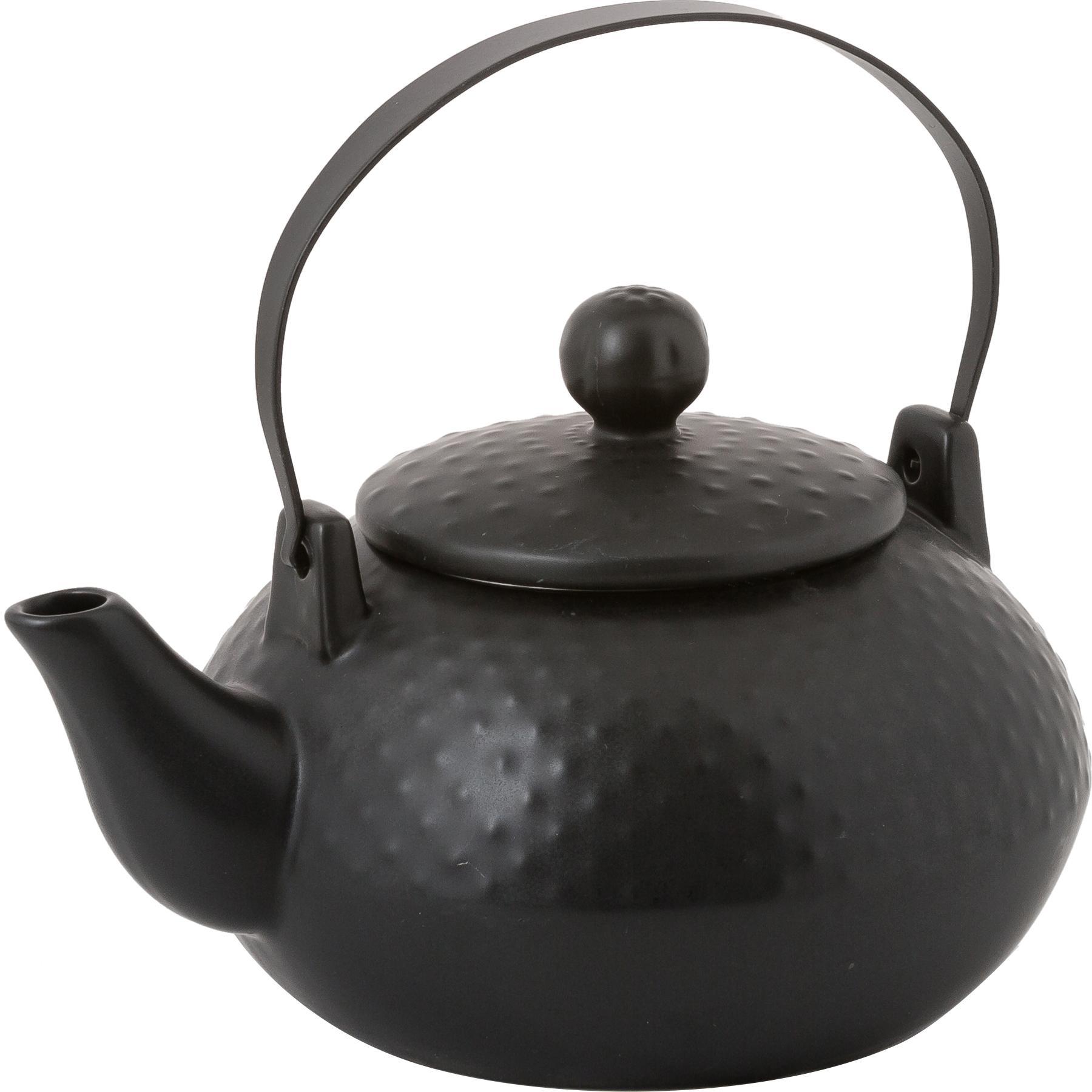 Service à thé Dots, 6élém., Noir