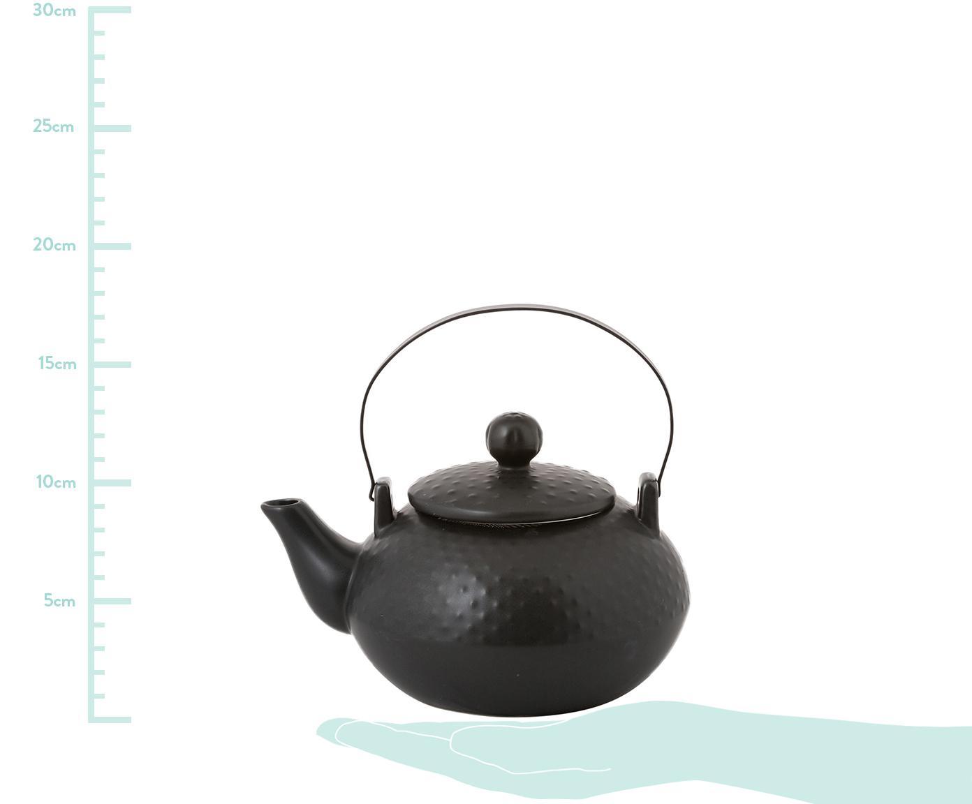 Serwis do herbaty Dots, 6 elem., Czarny, Komplet z różnymi rozmiarami