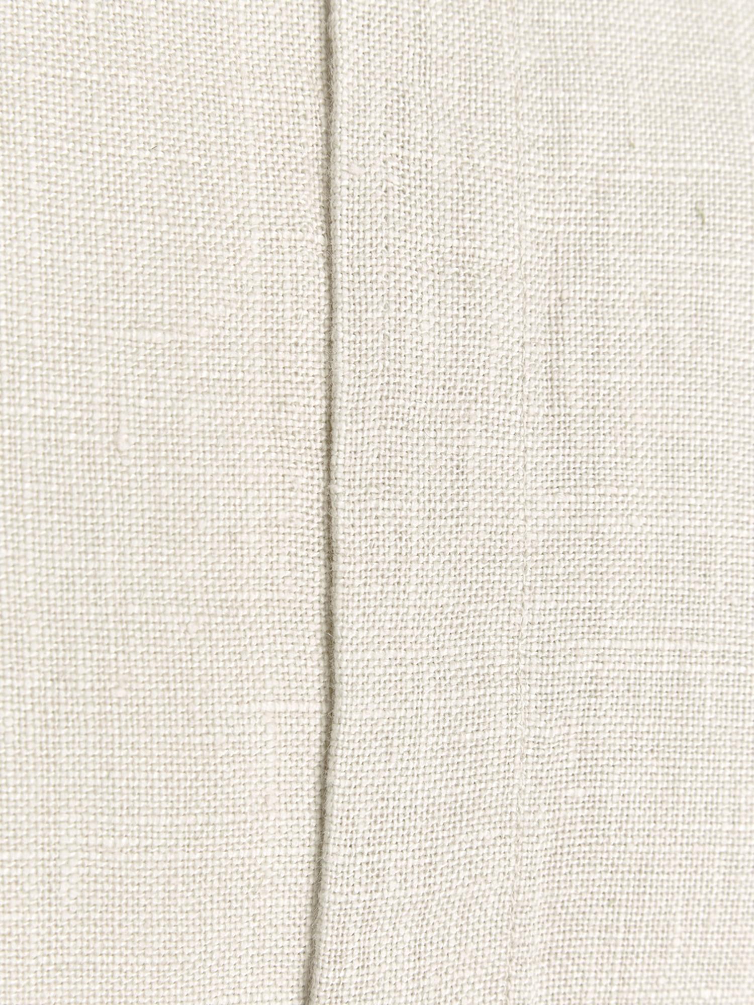 Leinen-Kissenhülle Luana in Hellbeige mit Fransen, 100% Leinen, Beige, 60 x 60 cm
