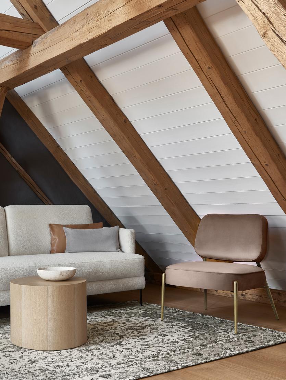 Samt-Loungesessel Viggo, Bezug: Samt (Polyester) 50.000 S, Beine: Metall, pulverbeschichtet, Samt Taupe, 62 x 76 cm