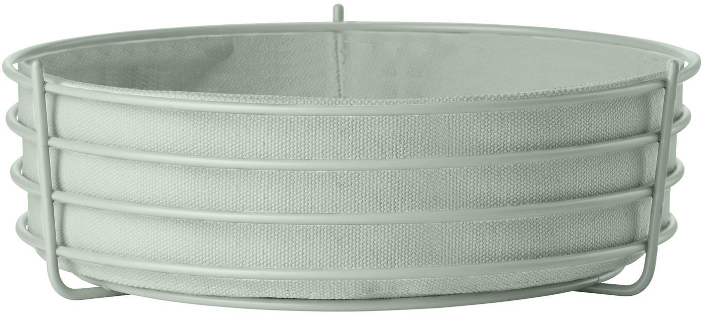 Brotkorb Gola mit herausnehmbarem Einsatz, Brotkorb: Metall, beschichtet, Mintblau, Ø 26 x H 8 cm