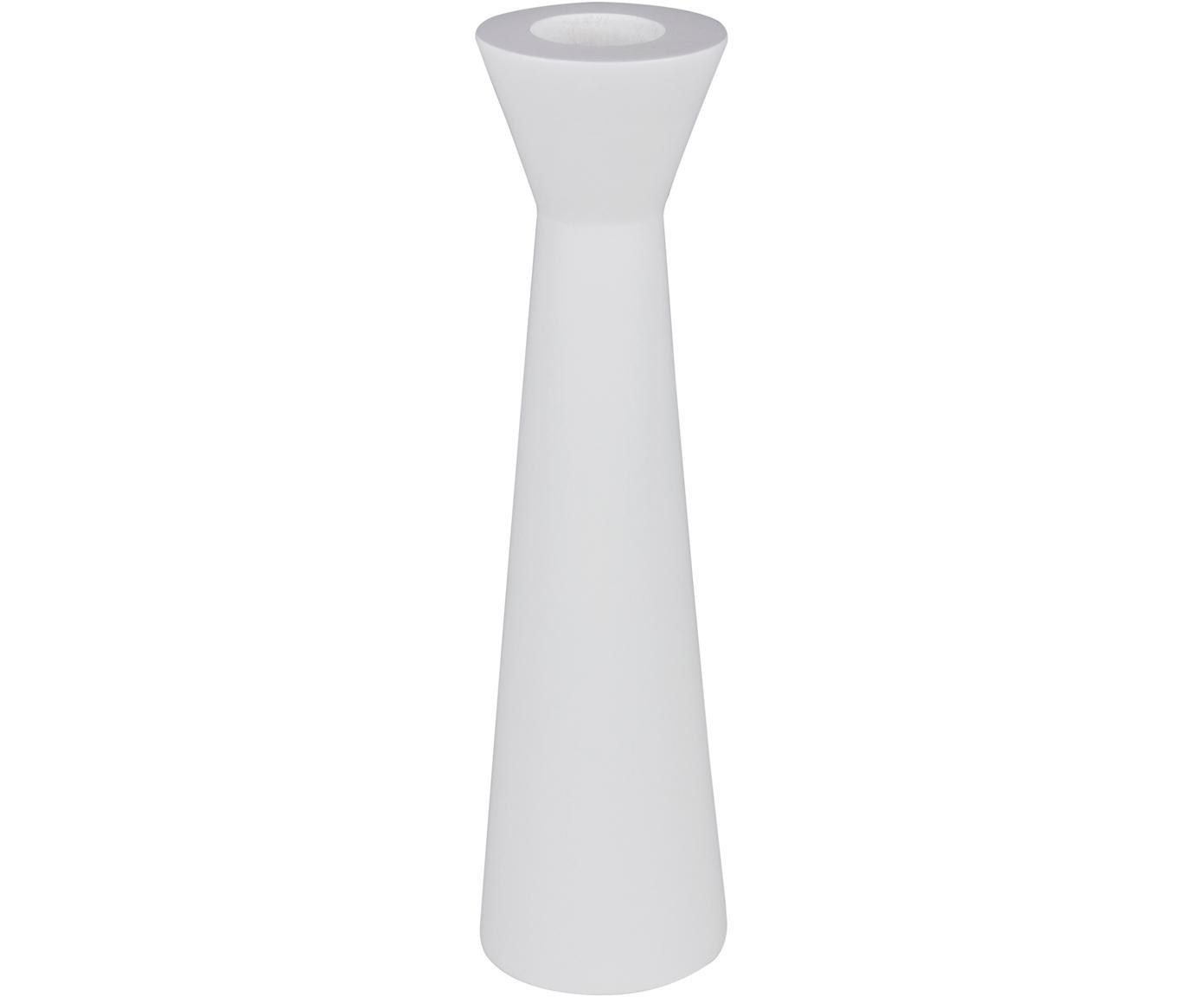 Kerzenhalter Helga, Holz, Weiß, Ø 8 x H 30 cm